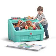 2-in1 Toy Box & Art Lid - Mint