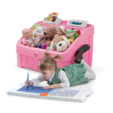 2-in1 Toy Box & Art Lid - Pink