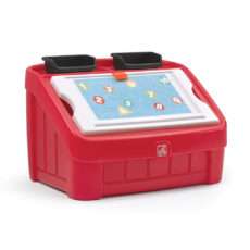 2-in1 Toy Box & Art Lid - Red