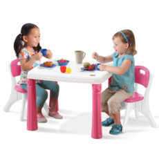 LS Table and Chairs Set Pink